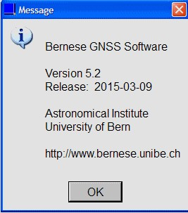 Bernese GNSS Software v.5.2